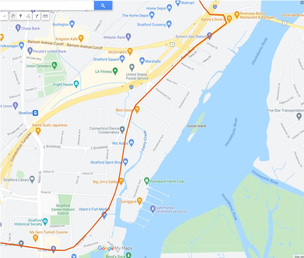 Map: GBT CL Detour Eastbound on 6-5-21