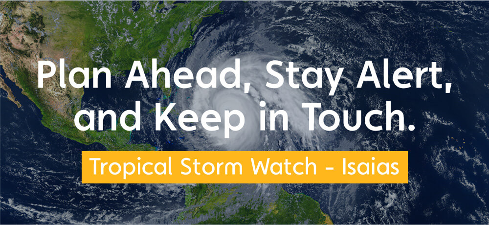 Tropical Storm Watch - Isaias